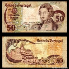 Billetes extranjeros: PORTUGAL 50 ESCUDOS ORO 1980 SIG 3 PIK 174B MBC-. Lote 99716915