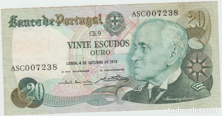 PORTUGAL 20 ESCUDOR 1978 P 176 AU-UNC