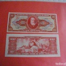 Billetes extranjeros: PRECIOSO BILLETE PLANCHA DE BRASIL 100 CRUZEIROS QUE NO TE FALTEN EN TU COLECCION. Lote 244581315