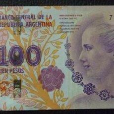 Billetes extranjeros: ARGENTINA - 100 PESOS (CONMEMORATIVO) - SIN FECHA (2016) - SERIE CA - S/C (VER FOTO ADICIONAL). Lote 101100875