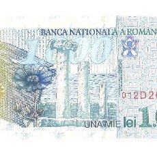 Billetes extranjeros: RUMANIA 1000 LEI. 1998. Lote 101129603