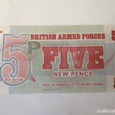 Billetes extranjeros: BILLETE INGLATERRA. FUERZAS ARMADAS BRITÁNICAS. 5 PENIQUES. 1972. 6ª SERIE. SIN CIRCULAR. Lote 101184059