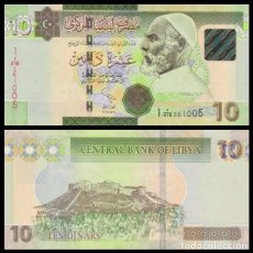 Billetes extranjeros: LIBIA 10 DINARS 17.02.2011. PICK 78A. SC (SERIE 1). . Lote 105214067