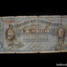 Billetes extranjeros: BILLETE 1 PESO CHIHUAHUA MÉXICO 1914. Lote 101714787