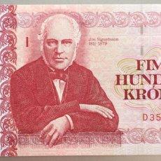 Billetes extranjeros: ISLANDIA. 500 CORONAS. Lote 102062419