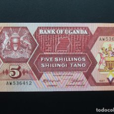 Billetes extranjeros: UGANDA 5 SHILLINGS 1987 SC-UNCIRCULATED.. Lote 102495351