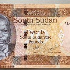 Billetes extranjeros: SUDÁN DEL SUR. 20 LIBRAS. Lote 103084650