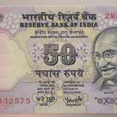 Billetes extranjeros: INDIA. 50 RUPIAS. Lote 96893304