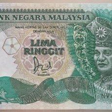 Billetes extranjeros: MALASIA. 5 RINGGIT. Lote 103138386