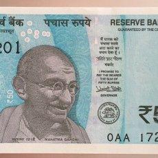 Billetes extranjeros: INDIA. 50 RUPIAS. Lote 103145490