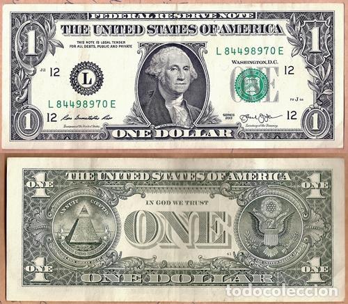 Billete 1 Dolar Estados Unidos De America 2013 Vendido En Venta