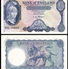 Billetes extranjeros: GRAN BRETAÑA 5 POUNDS 1961. PICK 372. Lote 103642887