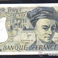 Billetes extranjeros: FRANCIA - 50 FRANCOS 1991 QUENTIN DE LA TOUR P.152 EBC++ XF++ . Lote 103724463