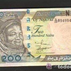 Billetes extranjeros: NIGERIA - 200 NAIRA 2002 SC P.29 UNC . Lote 103725111