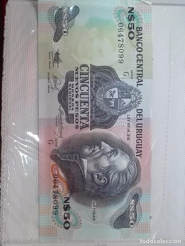 BILLETE PLANCHA URUGUAY (Numismática - Notafilia - Billetes Extranjeros)
