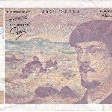 Banconote internazionali: BILLETE DE FRANCIA DE 20 FRANCOS DEL AÑO 1987 DE CLAUDE DEBUSSY. Lote 103973039