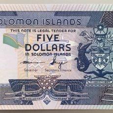 Billetes extranjeros: ISLAS SALOMÓN. SOLOMON. 5 DÓLARES. Lote 147554116