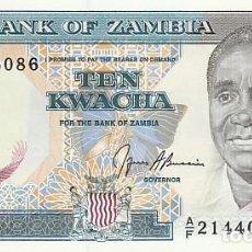 Billetes extranjeros: ZAMBIA- 10 KWACHA-SC. Lote 104283915