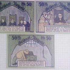 Billetes extranjeros: SCHMOLLN/NOTGELD. LOTE 3 X 50 PFENNIG 1921. SC.. Lote 104513011