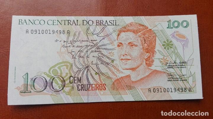 BRASIL 100 CRUZEIROS 1990. SC (Numismática - Notafilia - Billetes Extranjeros)