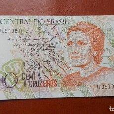 Billetes extranjeros: BRASIL 100 CRUZEIROS 1990. SC. Lote 105010551