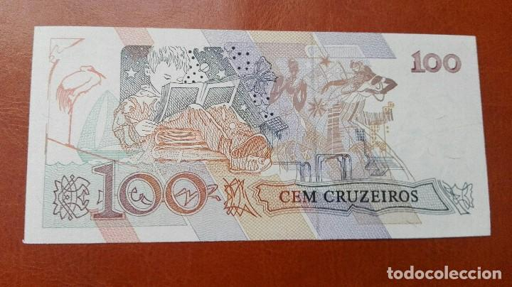 Billetes extranjeros: Brasil 100 cruzeiros 1990. SC - Foto 2 - 105010551