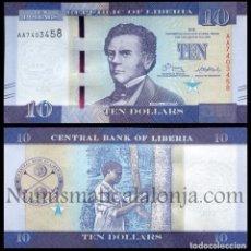 Banconote internazionali: LIBERIA 10 DOLARES 2016 PICK 32A NUEVO SC UNC. Lote 209942375