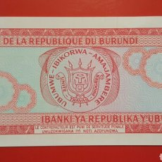 Billetes extranjeros: BILLETE BURUNDI 20 FRANCS 2007 SC. Lote 105400384