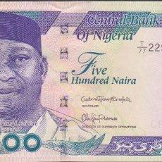 Billetes extranjeros: BILLETES NIGERIA - 500 NAIRA 2016 - SERIE T/77-229408 - PICK-30 NUEVO (SC). Lote 176292987