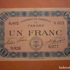 Billetes extranjeros: FRANCIA, 1 FRANCO DE LA CHAMBRE DE COMMERCE DE TATARE 1920. Lote 105695675
