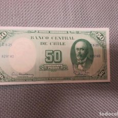 Billetes extranjeros: CHILE - BILLETE 50 PESOS - ANIBAL PINTO - PLANCHA . Lote 105845999