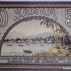 Billetes extranjeros: ALEMANIA NOTGELD/SAMOA. 50 PFENNIG 1922. SC.. Lote 106080667