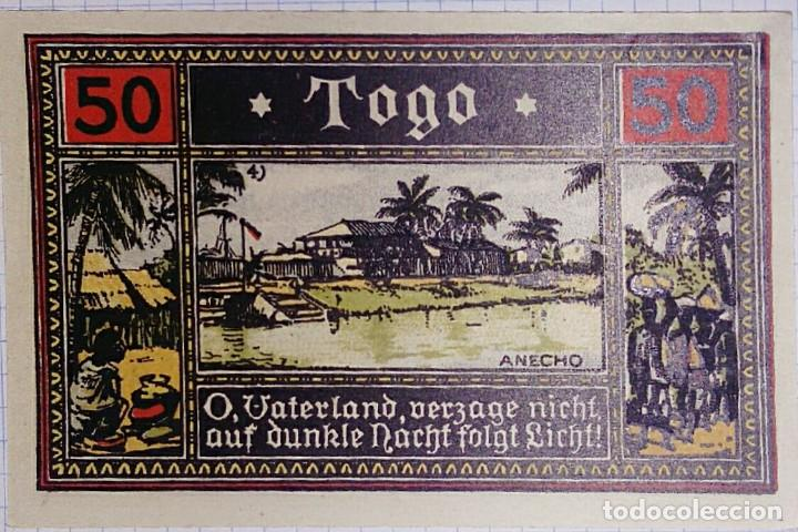 ALEMANIA NOTGELD/TOGO. 50 PFENNIG 1922. SC. (Numismática - Notafilia - Billetes Extranjeros)