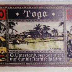 Billetes extranjeros: ALEMANIA NOTGELD/TOGO. 50 PFENNIG 1922. SC.. Lote 106091119