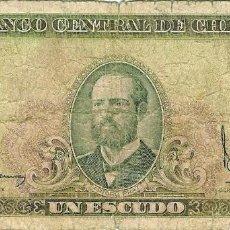 Billetes extranjeros: CHILE. 1 ESCUDO 1964. Lote 106758187