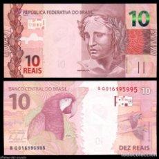 Billetes extranjeros: BILLETE DE AMERICA DE SUR BRASIL 10 REAIS AÑO 2010 SIN RCULAR-UNC- P-254. Lote 110085508