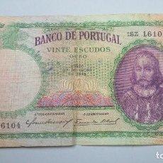 Billetes extranjeros: VINTE ESCUDOS. PORTUGAL. 1948. Lote 107690339