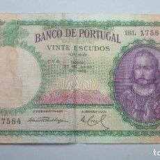 Billetes extranjeros: 20. VINTE ESCUDOS. PORTUGAL. 1948. Lote 107690563