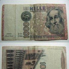 Billetes extranjeros: BILLETE ITALIA 1000 LIRAS 1982 CIRCULADO. Lote 107795159