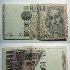 Billetes extranjeros: BILLETE ITALIA 1000 LIRAS 1982 CIRCULADO. Lote 107795411