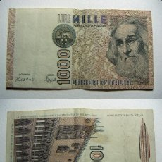 Billetes extranjeros: BILLETE ITALIA 1000 LIRAS 1982 CIRCULADO. Lote 107795531