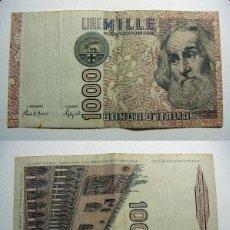 Billetes extranjeros: BILLETE ITALIA 1000 LIRAS 1982 CIRCULADO. Lote 107795559