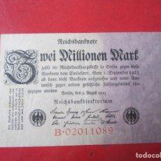 Billetes extranjeros: ALEMANIA. BILLETE DE 2 MILLONES DE MARCOS. 1923. Lote 107822007