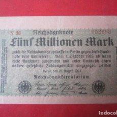 Billetes extranjeros: ALEMANIA. BILLETE DE 5 MILLONES DE MARCOS. 1923. Lote 107822083