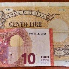 Billetes extranjeros: 100 LIRE 1893. Lote 108238787