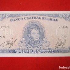 Billetes extranjeros: CHILE. BILLETE DE 1/2 ESCUDO 1962. Lote 108296659