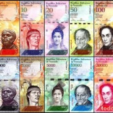 Billetes extranjeros: COLECCION COMPLETA VENEZUELA 100000 BOLIVARES X 13 PIECES (PCS) FULL SET, 2013-2017, P-NEW, UNC. Lote 115353767