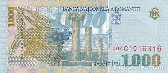 Billetes extranjeros: RUMANIA- 1000 LEI - Foto 2 - 108844455