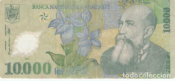 RUMANIA- 10000 LEI- 2000 (Numismática - Notafilia - Billetes Extranjeros)