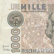 Billetes extranjeros: ITALIA- 1000 LIRAS. Lote 109013887